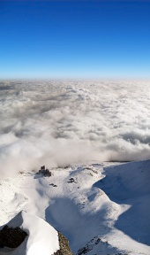 Vista aérea de Lomnické sedlo, High Tatras