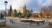 Castillo Bojnice y el parque, Eslovaquia