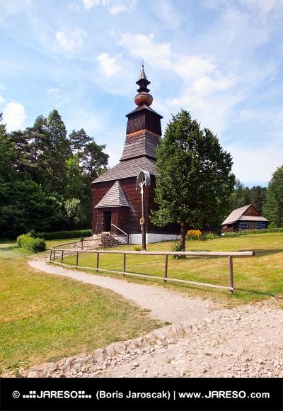 Une église en bois à Stara Lubovna, Slovaquie