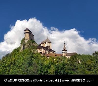 Célèbre château d'Orava, la Slovaquie