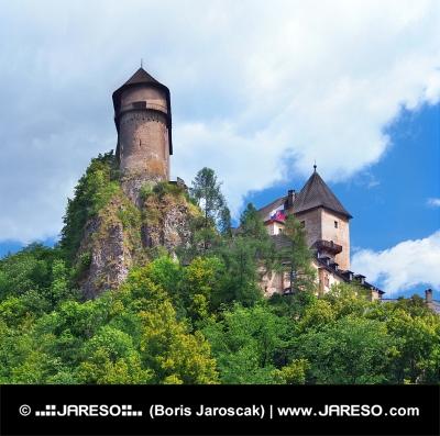 Tours du château d'Orava, la Slovaquie