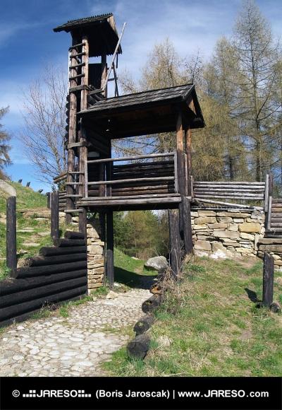 Fortification en bois sur Havranok