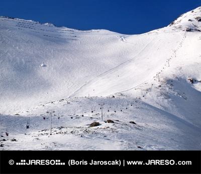 Plus la pente de ski dans les Hautes Tatras