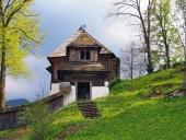 Une église rare dans Lestiny, Orava, la Slovaquie