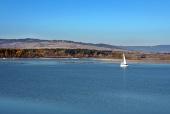 Les eaux du réservoir Orava, Slovaquie