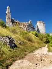 Le Château de Cachtice - fortification Ruiné