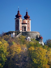 Calvaire sur Ostry VRCH colline, la Slovaquie