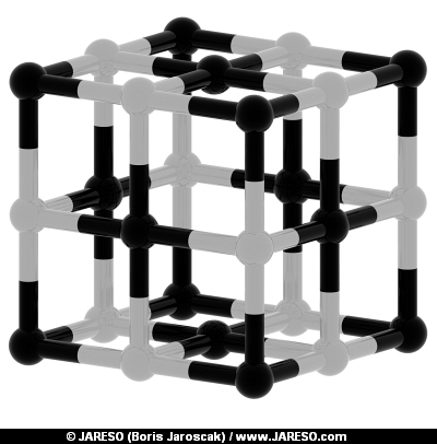 Abstract black and white cubic structure 3d model