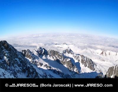 उच्च Tatras, स्लोवाकिया के पैनोरमा