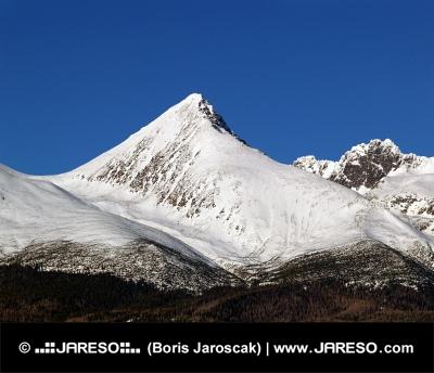 स्लोवाकिया में स्पष्ट सर्दियों के दिन के दौरान Krivan पहाड़