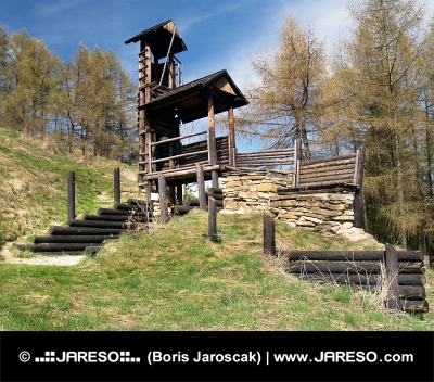 Havranok पहाड़ी, स्लोवाकिया पर लकड़ी के दुर्ग