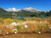Strbske Pleso, उच्च Tatras, स्लोवाकिया में शरद ऋतु