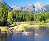 Strbske Pleso और उच्च Tatras में Strbsky पीक