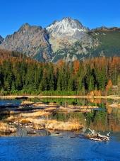 Nove Strbske Pleso, शरद ऋतु में उच्च Tatras