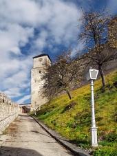 Trencin के महल का क्लॉक टावर