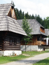 Zuberec संग्रहालय में लोक घरों