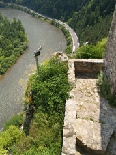 Strecno के महल से आउटलुक