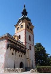 Banska Bystrica में सिटी कैसल के टॉवर