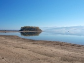 सुबह में Slanica द्वीप जल्दी