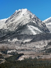 उच्च Tatras में Predne Solisko शिखर