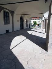 Levoca में टाउन हॉल के आर्केड