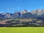 उच्च Tatras, स्लोवाकिया के तहत इमारतें