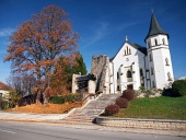 Mosovce, स्लोवाकिया में गोथिक Chruch