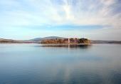 देर शाम को Slanica द्वीप