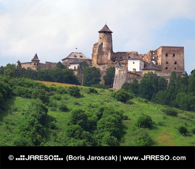 A dombon vár Ľubovňa, Szlovákia
