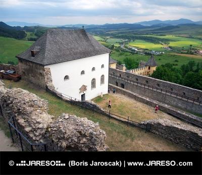 Outlook a várból a Ľubovňa, Szlovákia