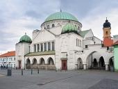 A Trencin Zsinagóga, Trencin városban, Szlovákia