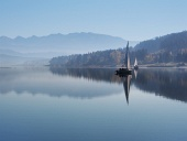 Kora reggel köd Árvai víztározó