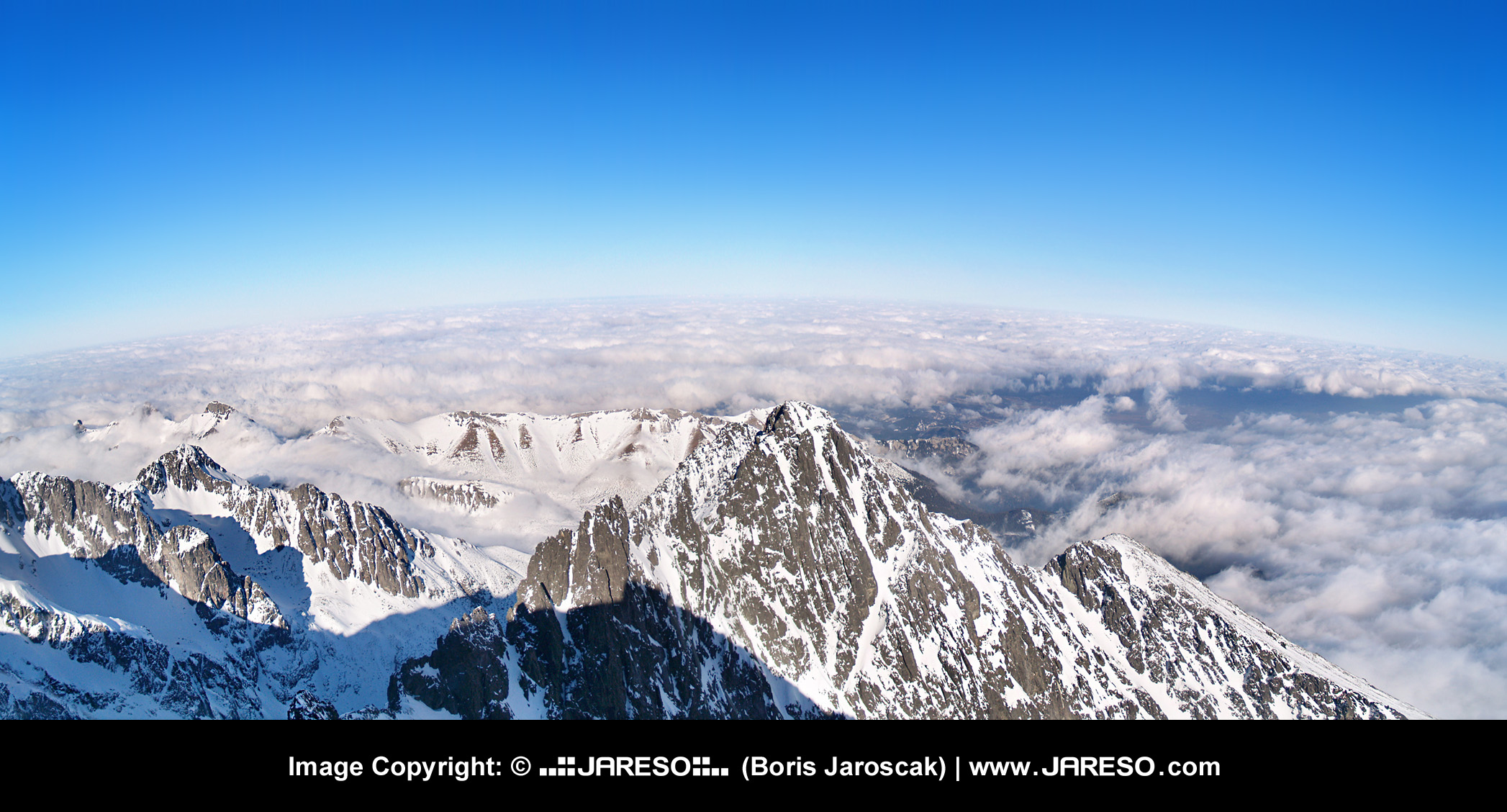 A panoramic view from one of the most famous peaks in the heart of Europe.