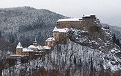 The winter season turns the Orava Castle into a real wonderland.