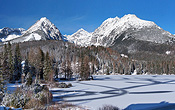 A cold winter in 2012 made the Strbske Pleso completely frozen!