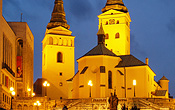 The town of Zilina, as I captured it in the late evening, after sundown.