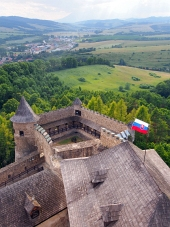 Una prospettiva dal castello Lubovna, Slovacchia