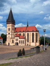 Basilica in città Bardejov, UNESCO, Slovacchia