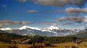 Prati e colline di Mala Fatra in inverno