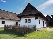 Rare casa del popolo di legno in Pribylina, Slovacchia