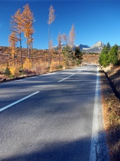 Road to Alti Tatra da Strba in autunno