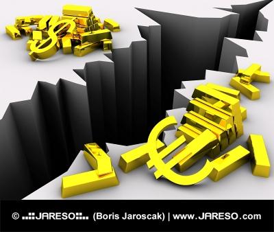 ドルとユーロ間の為替レート