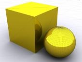 3Dプリミティブ、ボックスと球