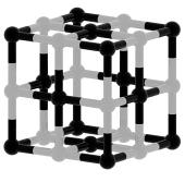 抽象的な黒と白の立方構造の3次元モデル