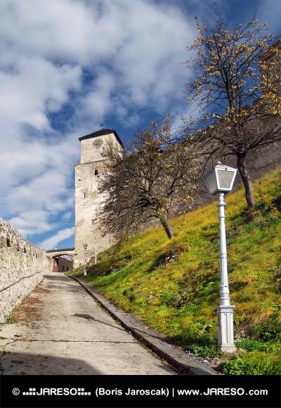 トレンチンの城の時計塔