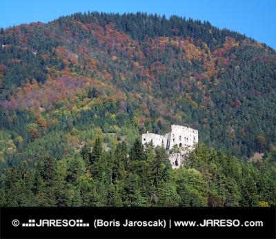 深い森、スロバキアでLikava城