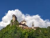 有名なOrava城、スロバキア