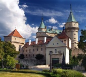 Bojniceの城への入り口