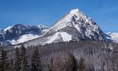 Rohace山の冬のフィールドとピーク