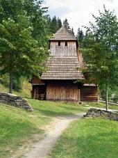 Zuberecでは珍しい木造教会